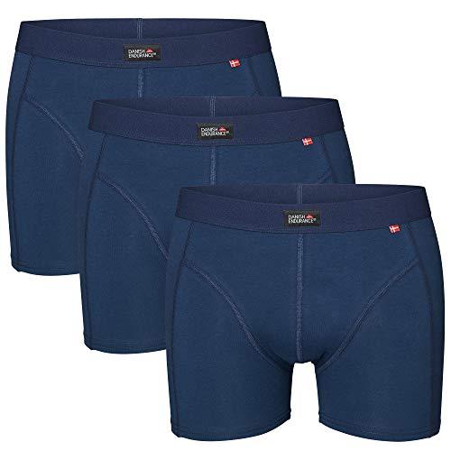 DANISH ENDURANCE 3 Boxers Homme en Coton Ultra Doux Oeko-TEX®, Coupe Classique, Maintien et Confort Supérieur, Caleçon 1