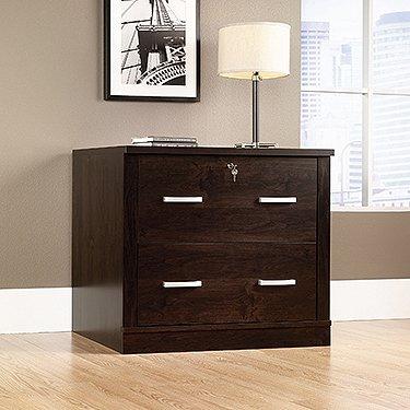Sauder 408293 Office Port File Cabinet, L: 33.11'' x W: 23.47'' x H: 29.29'', Dark Alder finish by Sauder
