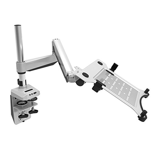 Loctek D7P 2 IN 1Height Adjustable Desk Laptop Mount Swivel Monitor Arm Stand Fits 10.1
