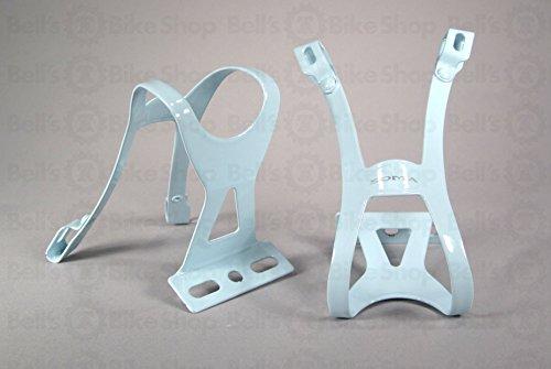 Soma Oppy X 1-Strap Toe Clips Light Blue L/XL Pair Track Fixed Gear Road Bike