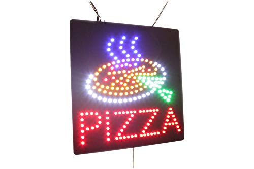 (Pizza Sign, Super Bright High Quality Open Sign, Store Sign, Business Sign, Windows Sign, LED Sign)