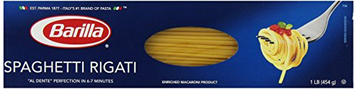 Barilla Spaghetti Rigati, 16 (No Sodium Pasta Sauce)