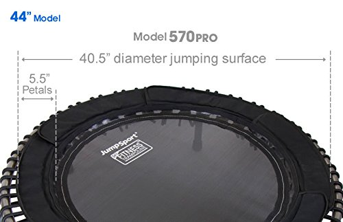 JumpSport 570 PRO | Fitness Trampoline | Professionals Choice | Extra Large Surface for More Freedom | No-Tip Arched Legs | Top Rated for Quality, Safety & Durability | 4 Music Workout Vids Incl. by JumpSport (Image #5)