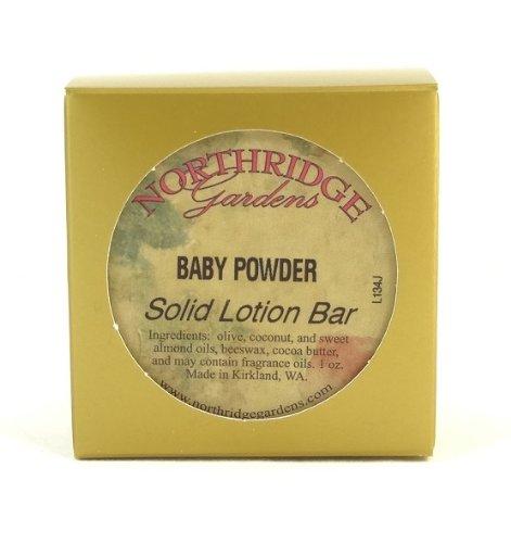 Northridge Gardens Baby Powder Solid Lotion Bar 1oz