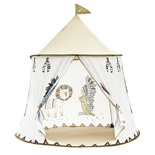 XYTENT Kids Play Tent with Indian Tribal Guru Easy to Set Up Peach-Skin Fabric Castle Teepee Indian Tribal Castle Play House Toy for Indoor & Outdoor Use 41inch(D) x 51inch(H) [並行輸入品] B077Z2F1JY