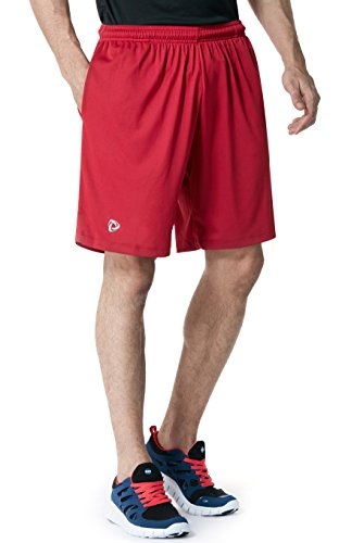 TM-CMBS01-CRR_X-Large Tesla Men's Active Shorts Sports Performance HyperDri II With Pockets CMBS01
