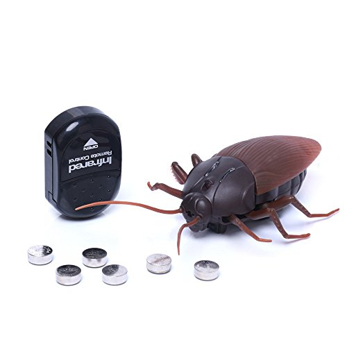 Zlimio Infrared Remote Control Fake Cockroach RC Prank Insect Joke Scary Trick Toy,Prank Your Friends