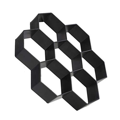 - Wrea Hexagon Garden Paving Mold DIY Super-Light Concrete Paver Stepping Stone Path Plastic Mould