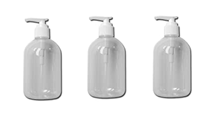 3cdc5633a30f 3 Liquid Soap Dispenser Pump Lotion Refillable Empty Bottle Plastic Jar 12  Oz !