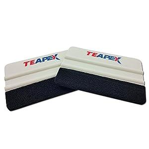 Teapex Felt Edge Squeegee For Car Vinyl Wrap Film Carbon Fiber 4 Inch 2pk 2-Sided Felt Each