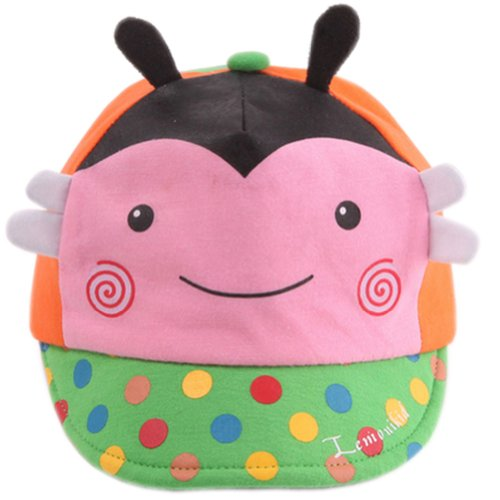nice Infant Sun Protection Hat Baby Beaked Cap Toddler Floppy Cap Cute Bee Pink for cheap