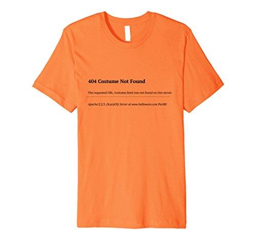 Mens 404 Costume Not Found Halloween Last Minute Fun Nerd T-Shirt 3XL Orange