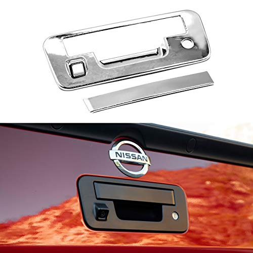 EZ Motoring Chrome Tailgate Handle Cover with Keyhole & Camera Hole for 2013-2015 Nissan - Nissan Tailgate Titan Chrome