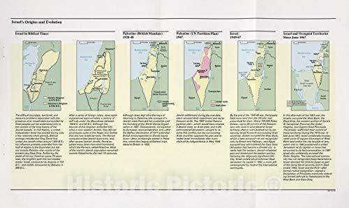 Historic 1994 Map | The Gaza Strip & West Bank : a map Folio | Israel's Origins and Evolution (Biblical, 1920-1948, 1947, 1949-67, June 1967) | Gaza Strip and West Bank 74in x 44in (Map Gaza Israel Strip)