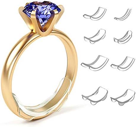Kohyum Ringgröße Einsteller Unsichtbarer für lose Ringe 8-Größen-Ringeinsteller Sizer Passend für alle Ringring-Distanzstücke