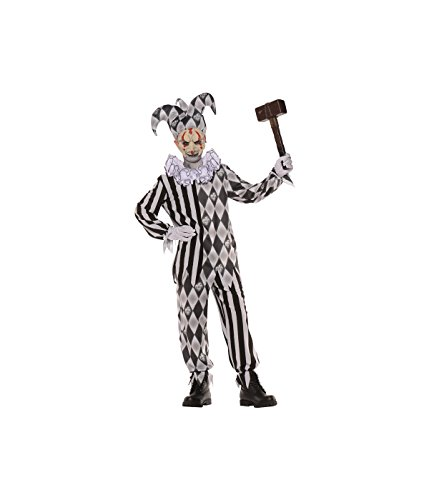 Scary Harlequin Costume (Evil Harlequin Child Costume - Large)