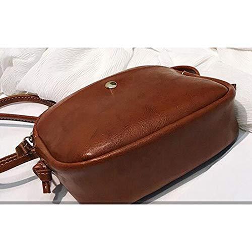 Borsa borsa posteriore per diagonale Klerokoh tracolla in pelle schienale a donnacoloremarronemarrone con JFTlK1c