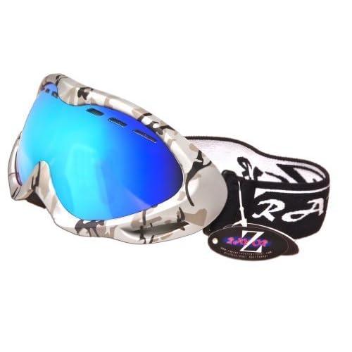 Rayzon - Gafas de esquí o snowboard (protección UV400, montura con diseño de camuflaje
