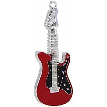 CHUYI Metal Guitar Shape 8GB USB 2.0 Flash Drive Waterproof Pen Drive Date Storage Memory Stick Thumb Drive(Red)