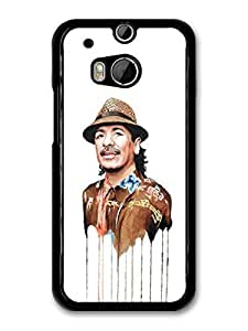 AMAF ? Accessories Carlos Santana Melting Clothes Portrait Illustration case for HTC One M8