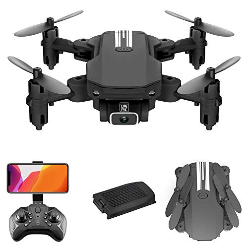 Goolsky Mini Drone RC Quadcopter with 480P Camera 13mins Flight Time 360° Flip 6-Axis Gyro Gesture Photo Video Track…