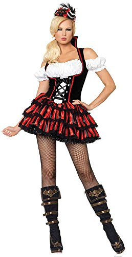 (GTH Women's Shipwreck Pirate Hot Sexy Theme Party Fancy Halloween Costume, M)