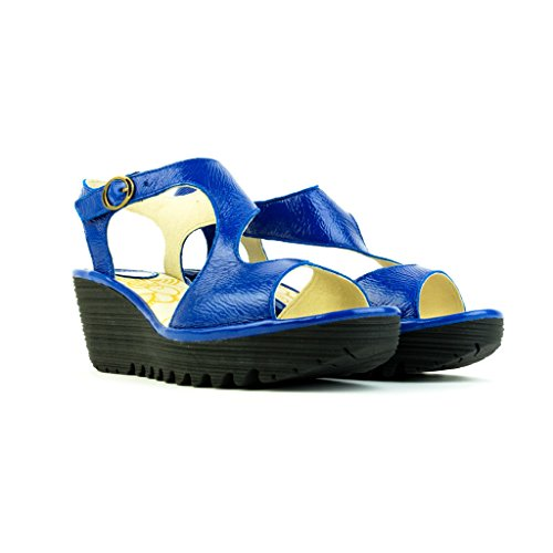 Fly London - Sandalias de vestir para mujer Azul