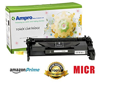 Ampro's CF226X MICR Compatible Toner Cartridge Replacement for HP CF226X Micr or HP 26X for HP LaserJet Pro M402 M426 MFP Series. by Ampro Office Products LLC.