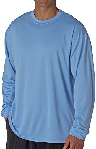 (Gildan Big Men's Cotton Long Sleeve T-shirt 5XL Light Blue #420)