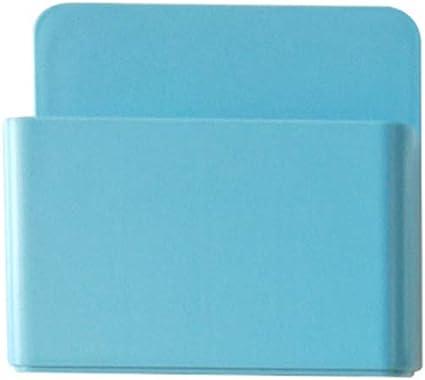 Imán para nevera con caja de almacenamiento magnética para bolígrafos, organizador de plástico con imán de goma para oficina, hogar, escuela, aula, cocina, color azul: Amazon.es: Oficina y papelería