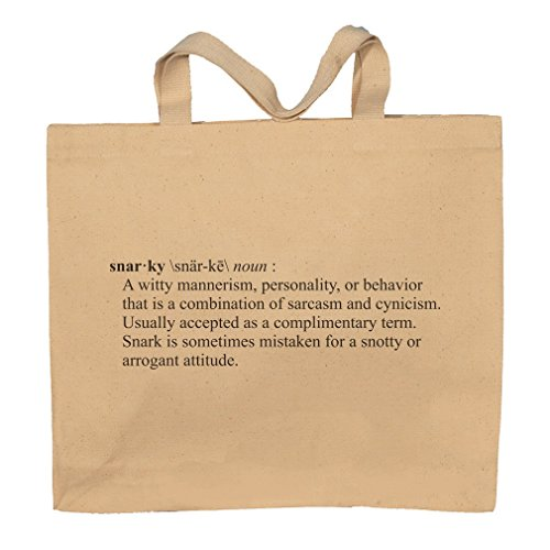 Snarky Funny Definition Totebag Bag by T-ShirtFrenzy