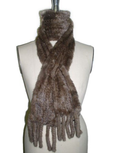 Long Lunaraine Knitted Mink Scarf by FursNewYork (Image #2)