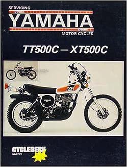 yamaha tt500 and xt500 motorcycle repair shop manual enduro: yamaha:  9780868890067: amazon com: books