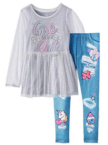Price comparison product image JoJo Siwa Girls Outfit Clothes Shirt Tulle Unicorn Legging Pant 2 Pc (6-6X)