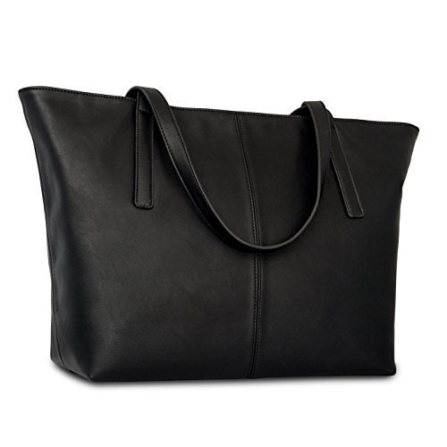 Handbag Shopper Tote Bag Women Black - Expatrié - Big Shoulder Bag Vegan Leather