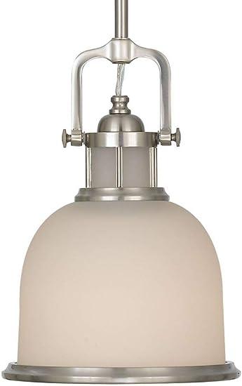 8Dia x 11H 8Dia x 11H 1-Light Feiss P1144BS Parker Place Pendant Lighting 100watts 100watts 1-Light Satin Nickel