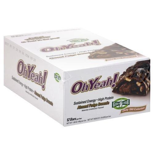 ISS OhYeah! OhYeah! Bar - Almond Fudge Brownie - 12 Bars Box - 1.59 oz (45 g) bar [19.08 oz (1.19 lb)] box