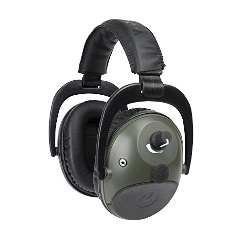 Motorola MHP81 Talkabout Electronic Earmuff with PTT Microphone Cable (Hunter green) by Motorola