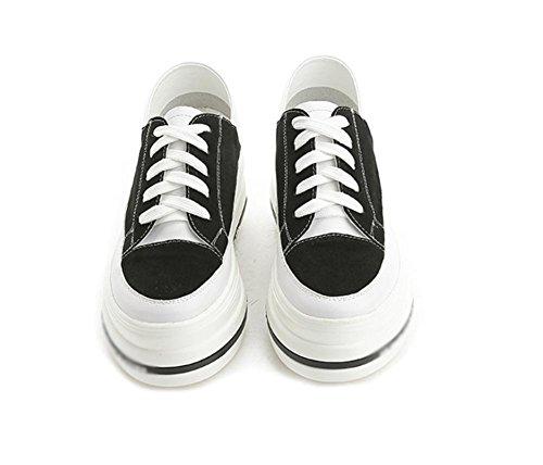 zapatos casuales Sra primavera y otoño, zapatos de deporte de los zapatos del elevador mollete pesado de fondo de encaje zapatos , US5.5 / EU35 / UK3.5 / CN35