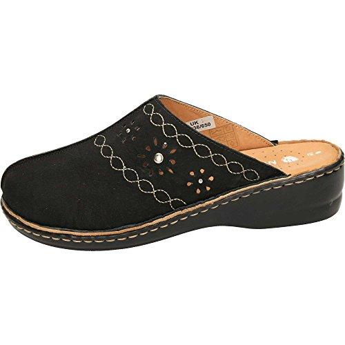 Black Slip Clogs Natrelle Leather Sandals On Mules xpqvfTCw