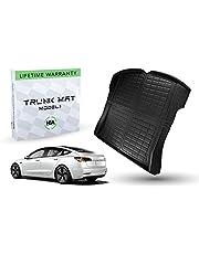 #1 Tesla Model 3 Trunk Mat - Fits 2017 - 2021 Ultimate All Weather & All Season Waterproof 3D Floor Liner - Trunk Mat - Black Interior Accessories Without Logo (Trunk Mat)
