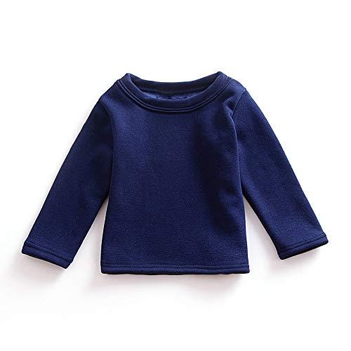 lunghe t autunno solido bambini tops maniche cotone grigio a abbigliamento casual inverno royal Bambini blue 90cm gray shirt multicolor wxzSESI