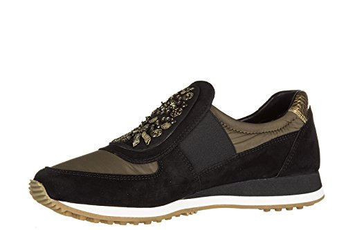 Car Shoe slip on femme en daim sneakers noir