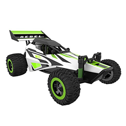 Force1 Fast Remote Control Car - Rebel 1/32 Scale RC Buggy with Ramp and Cones for All Terrain RC Cars Rechargeable Stunt RC Cars for Kids and Adults ()