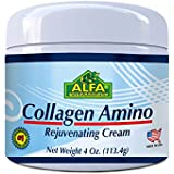 Collagen Amino Cream 4 Oz with Vitamin E. Rejuvenates the Skin / By Alfa Vitamins