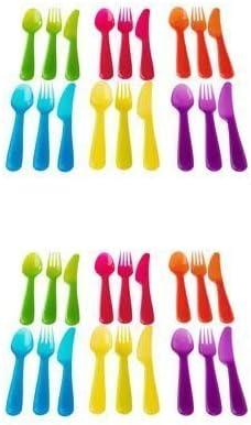 Multicolored 2, DESIGN 1 Ikea Kalas 901.929.62 18-Piece BPA-Free Flatware Set