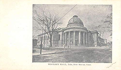 New Haven Connecticut Yale Woolsey Hall Street View Antique Postcard K431934