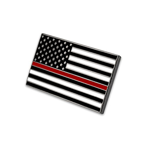 - Fire Department Thin Red Line USA Flag Pin
