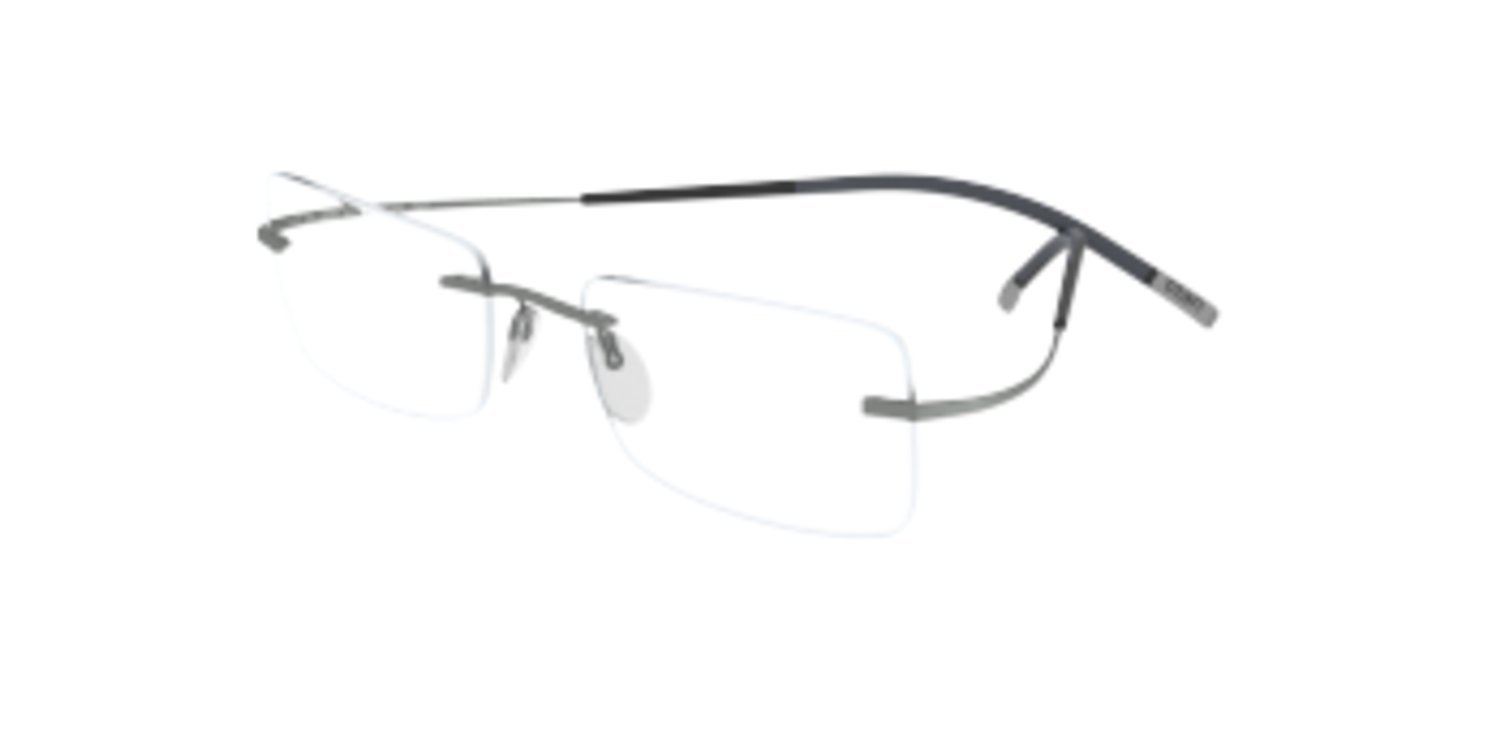 Silhouette TMA Icon 7579/60 Eyeglasses 6061 Silver 51MM by Silhouette