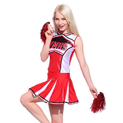 MORESAVE Ladies Glee Cheerleader Costume High School Girl Dance Outfits Fancy Dress Uniform ()